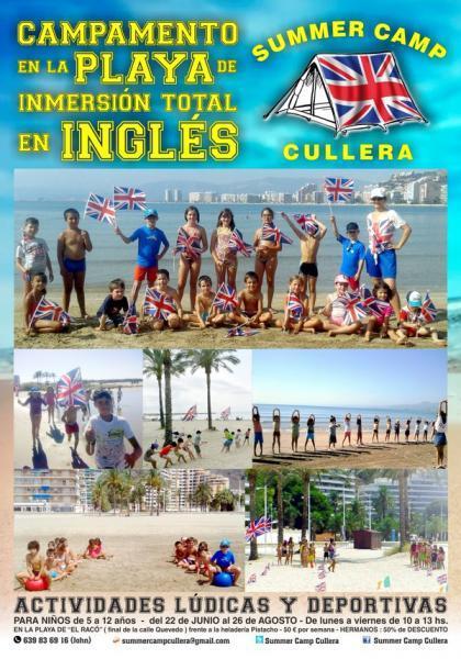 Summer Camp Cullera Inmersión Total en Inglés.