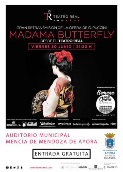 Retrasmisión de la ópera Madama Butterfly desde el Teatro Real en Ayora