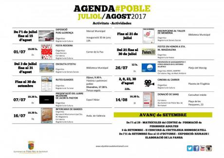 Agenda Julio-Agosto 2017