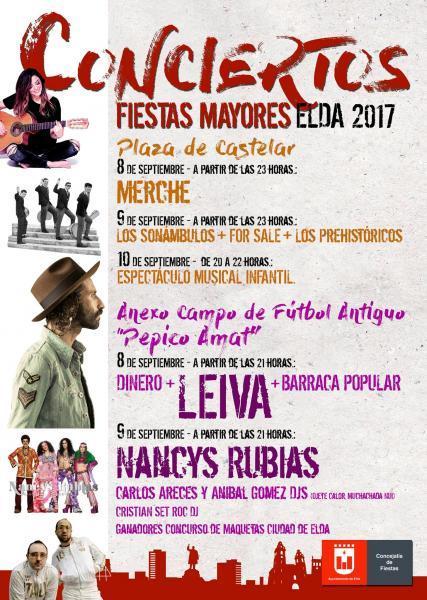 Conciertos Fiestas Mayores Elda 2017