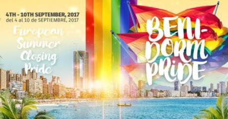 Pride in Big Type in the Benidorm Pride, Benidorm