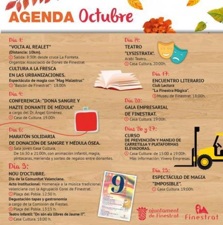 Agenda Cultural Finestrat Octubre 2017.