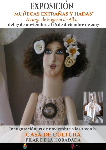 """Exposición """"Muñecas extrañas y hadas"""" a cargo de Eugenia de Alba en Pilar de la Horadada 2017"""