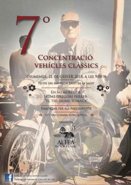 VII Concentración de Vehículos Clásicos en Altea La Vella