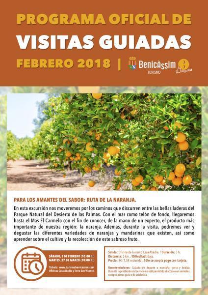 Programa Oficial Visitas guiadas: Ruta de la naranja
