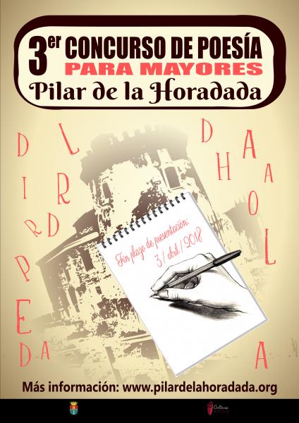 III Concurso de Poesía para Mayores en Pilar de la Horadada 2018