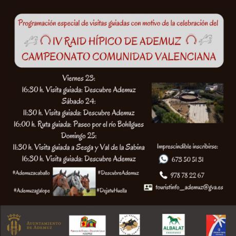 Visit guiada especial con motivo de la celebración del Raid Hípico Ademuz Endurance Campeonato Comunidad Valenciana