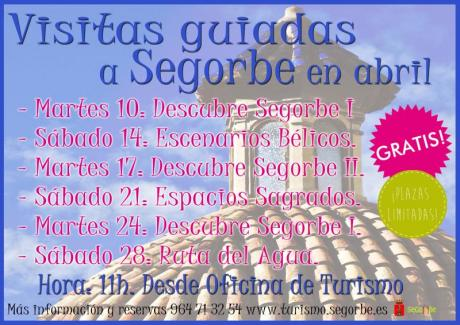 Visitas guiadas gratuitas a Segorbe en abril.