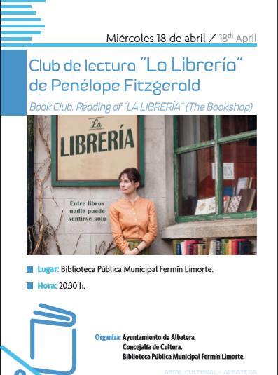 """CLUB DE LECTURA """"LA LIBRERÍA"""" de Penélope Fitzgerald."""