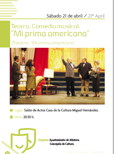 "COMEDIA MUSICAL ""MI PRIMA AMERICANA"""