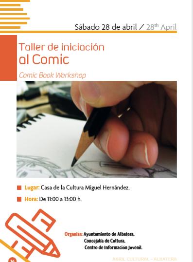 TALLER DE INICIACIÓN AL CÓMIC