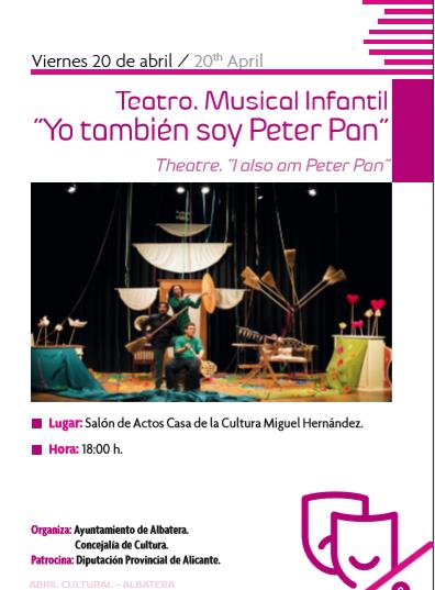 YO TAMBIÉN SOY PETER PAN  Teatro infantil