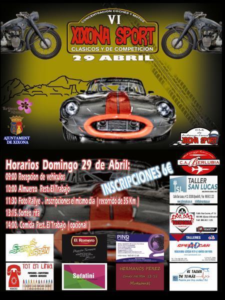 VI Concentración de coches y motos (clásicos y de competición)