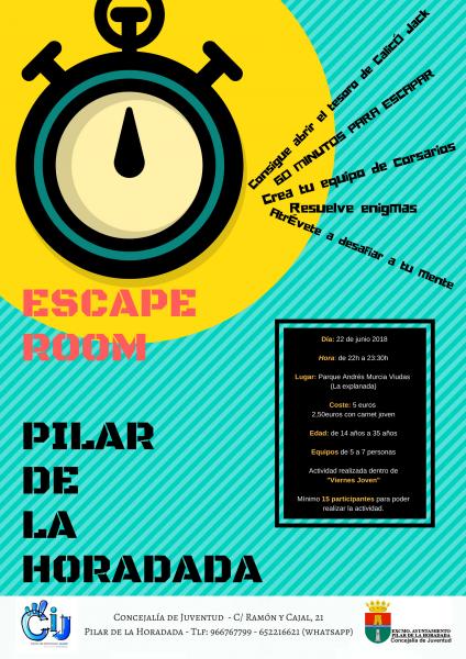 Escape Room y Viernes Joven en Pilar de la Horadada 2018