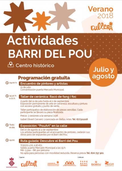 ACTIVIDADES BARRI DEL POU VERANO 2018