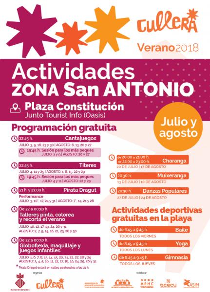 ACTIVIDADES GRATUITAS OASIS CULLERA VERANO 2018