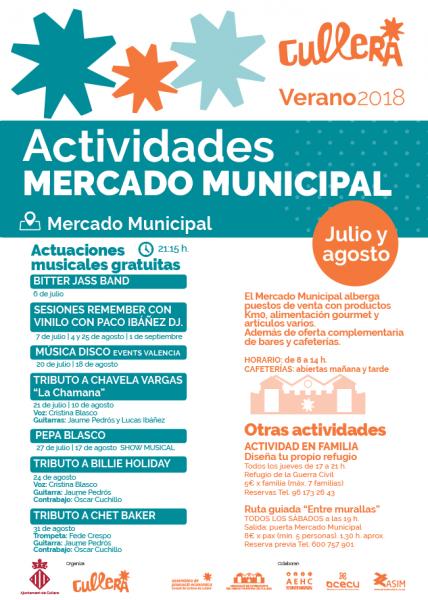 ACTIVIDADES MERCADO MUNICIPAL CULLERA VERANO 2018
