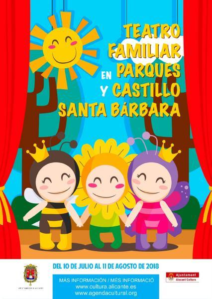 Teatro familiar en parques y Castillo de Santa Bárbara (Estiu Cultural 2018)