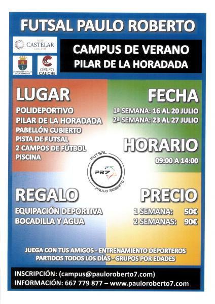 Campus de Verano 'Futsal Paulo Roberto' en Pilar de la Horadada 2018