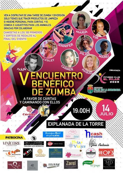 V Encuentro Benéfico de Zumba en Torre de la Horadada, Pilar de la Horadada 2018