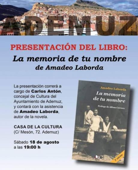 Presentación del libro: La memoria de tu nombre
