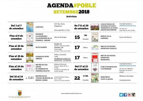 Agenda Septiembre 2018