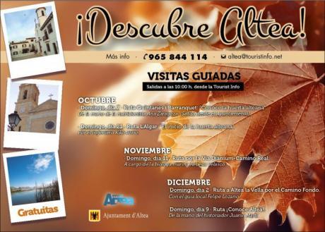 Visitas guiadas gratuitas Altea Otoño-Invierno 2018