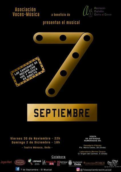 MUSICAL DE MECANO 7 DE SEPTIEMBRE, ONDA 2018