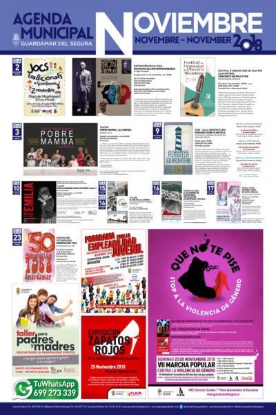 Programación cultural noviembre 2018 Guardamar del Segura