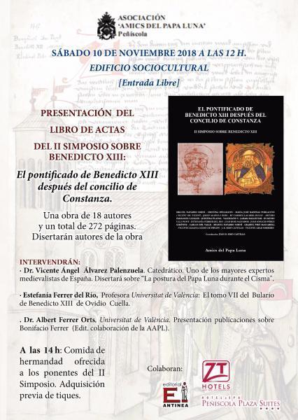 Presentación del Libro de Actas del II Simposio sobre Benedicto XIII
