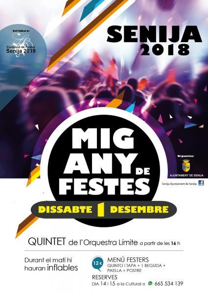Medio Año de Fiestas 2018 en Senija