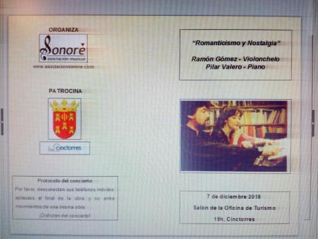 Concierto Violonchelo y piano
