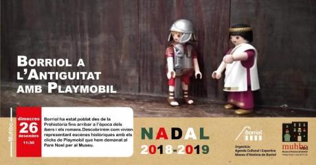 Taller infantil, Borriol en la antigüedad con Playmobils