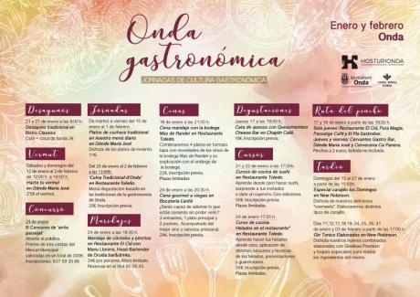 ONDA GASTRONÓMICA, JORNADAS DE CULTURA GASTRONÓMICA, 2019
