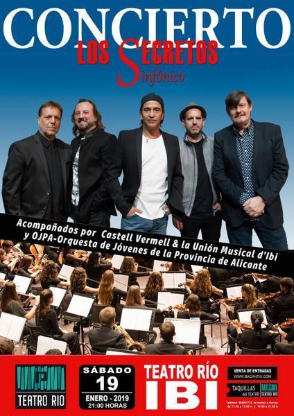 """Concierto sinfónico: """"Los Secretos"""""""