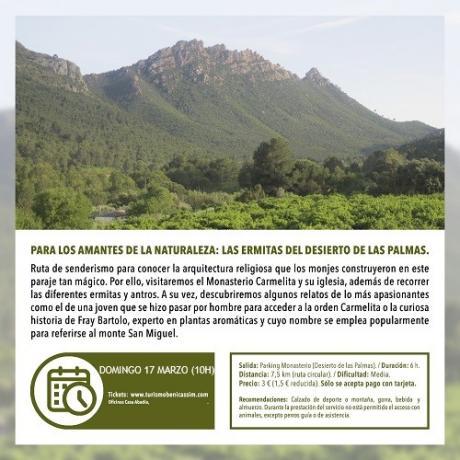 Visita guiada: Las ermitas del Desierto de las Palmas