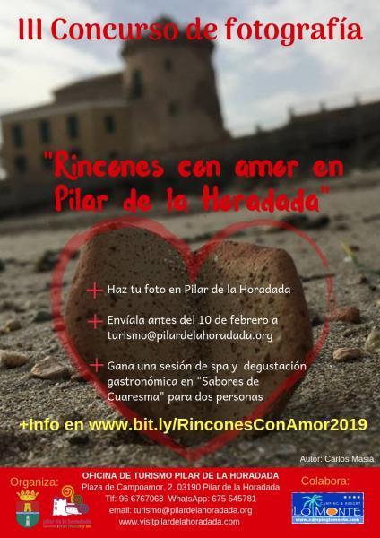 """III Concurso de Fotografía """"Rincones con amor en Pilar de la Horadada"""""""