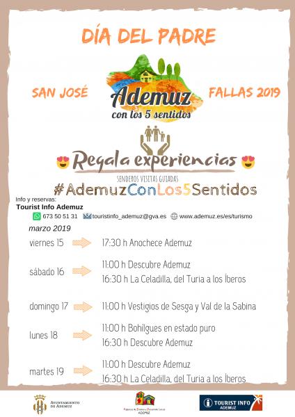regala experiencias #ADEMUZCONLOS5SENTIDOS