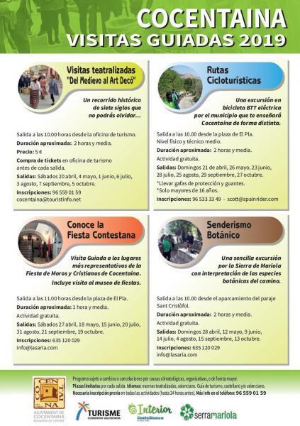 Visitas Guiadas Cocentaina 2019