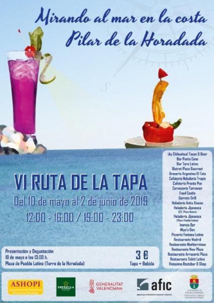 VI Ruta de la Tapa y el Cóctel 'Mirando al Mar en la Costa' en Pilar de la Horadada 2019