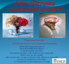 """EXPOSICIÓN """"DOS PINTORS ALCOIANS A CALP"""". LLORENS FERRI Y CRISTINA FRANCÉS"""