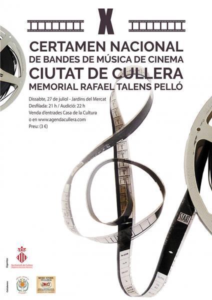 X CERTAMEN NACIONAL BANDAS DE MÚSICA DE CINE CULLERA