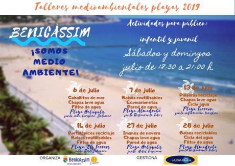 Talleres Medioambientales en playas - Julio 2019