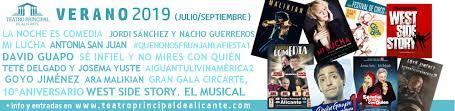Verano en el Teatro Principal de Alicante 2019