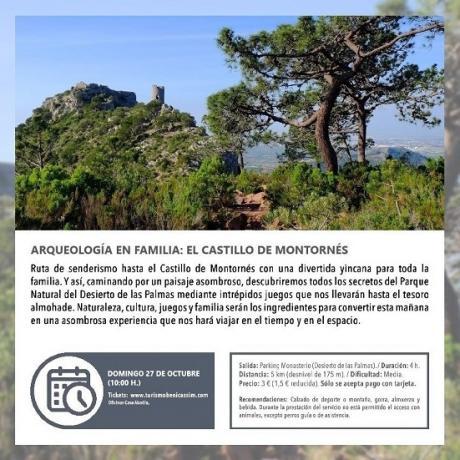 Programa oficial de visitas guiadas. Arqueología en familia: Castillo de Montornés.