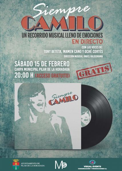 Concierto: Siempre Camilo 'Un recorrido musical lleno de emociones en directo con las voces de Tony Beteta, Mamen Cano y Oché Cortés en Pilar de la Horadada 2020