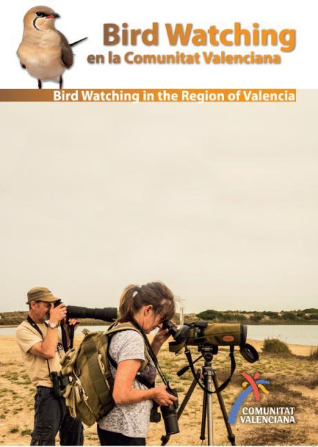 Portada folleto bird watching Comunidad Valenciana
