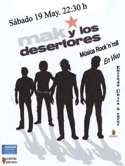 Concierto mak y los desertores for Cajeros sabadell valencia