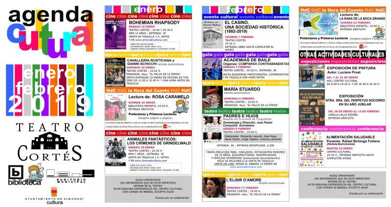 Agenda Cultural Enero Febrero
