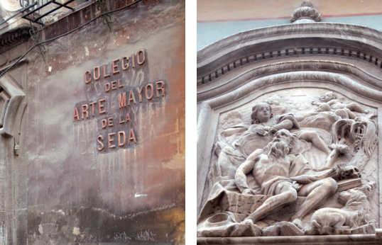 Imágenes del Colegio del Arte de la Seda en Valencia